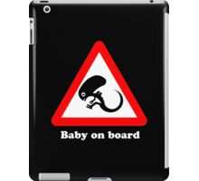 Baby on board iPad Case/Skin
