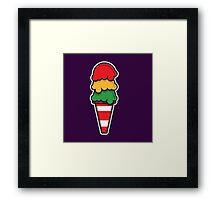 Traffic Cone Ice Cream Framed Print