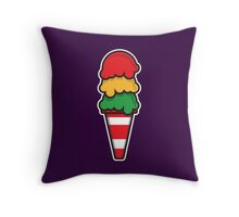 Traffic Cone Ice Cream Throw Pillow