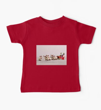 Rudolph Knows the Way Baby Tee