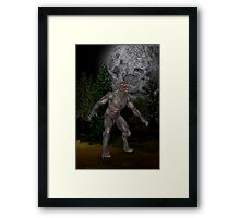 Howl at the Moon .. the wolfmans tale Framed Print