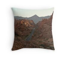 Mountain drive in Valley of Fire State Park, Nevada Throw Pillow