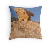 Stubborn rock Throw Pillow