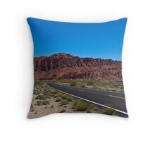Valley of Fire parkway Throw Pillow