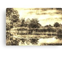The Lily Pond Vintage Canvas Print