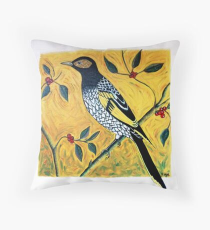 Regent Honeyeater Throw Pillow