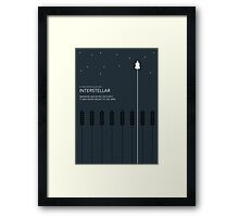 Interstellar Tribute - Minimalist Space Design Framed Print