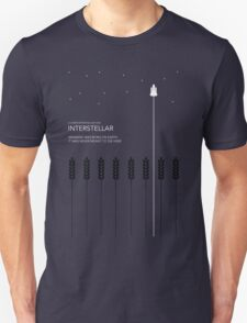 Interstellar Tribute - Minimalist Space Design T-Shirt