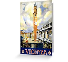 Vicenza Italy Vintage Travel Poster Restored Greeting Card