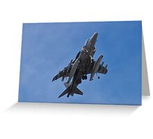 A fully loaded AV8B Harrier Greeting Card