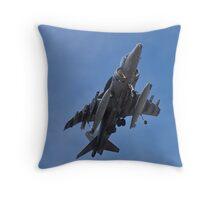 A fully loaded AV8B Harrier Throw Pillow