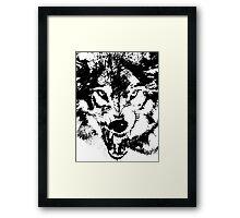 wolf, predator Framed Print