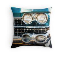 1959 Cadillac Sedan Deville (Series 62) Grill Throw Pillow