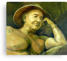 The Old Aussie Digger Canvas Print
