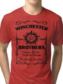 Winchester brothers since 1983 (black version) Tri-blend T-Shirt
