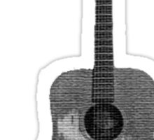 Battered Guitar Sticker