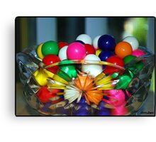 Colorful Gumballs Canvas Print