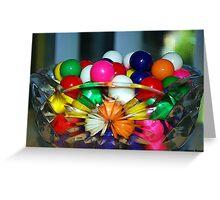 Colorful Gumballs Greeting Card