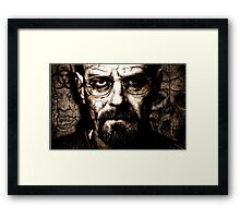 Walter white Framed Print