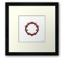 Red Flower Circle Framed Print