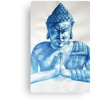 Blue Buddha ink painting Canvas Print