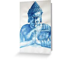 Blue Buddha ink painting Greeting Card