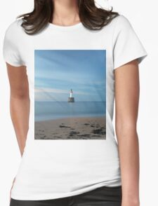 Rattray Head Lighthouse at Sunset Womens Fitted T-Shirt