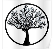 Tree in black and blueA Poster