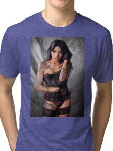 Lepa on Blue Tri-blend T-Shirt