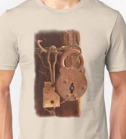 Old Rusty Shearing Shed Lock Unisex T-Shirt