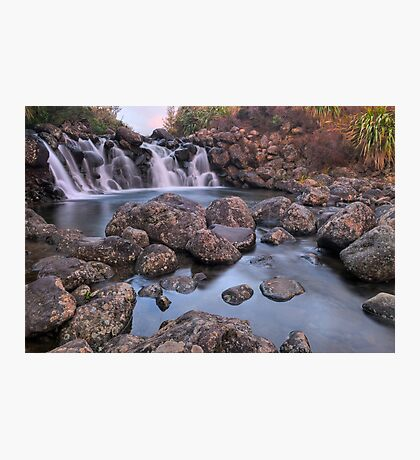 Waterfall Sunset Photographic Print