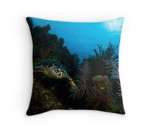 Hawksbill Turtle Throw Pillow