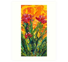 Spring Tulips, Triptych Panel 1 Art Print