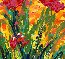 Spring Tulips, Triptych Panel 1 by Nadine Rippelmeyer