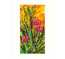 Spring Tulips, Triptych Panel 2 Art Print