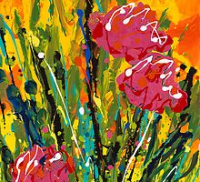 Spring Tulips, Triptych Panel 2 by Nadine Rippelmeyer