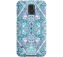 Blue and Teal Diamond Doodle Pattern Samsung Galaxy Case/Skin