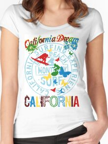 california surfing Women's Fitted Scoop T-Shirt