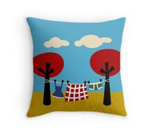 Country Laundry Throw Pillow