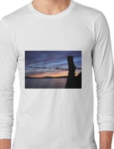 Barbed Wire Sunset Long Sleeve T-Shirt