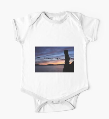 Barbed Wire Sunset One Piece - Short Sleeve