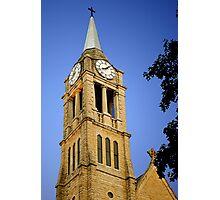 St. Dennis Church Steeple & Clock Photographic Print