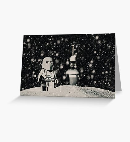 The night shift on Hoth Greeting Card