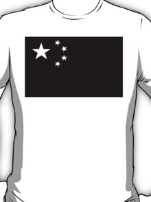 Chinese Flag Black and White T-Shirt