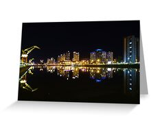 Buenos Aires, Argentina. Puerto Madero by night Greeting Card