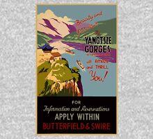 Vintage Yangtsze Gorges China Travel Poster Unisex T-Shirt