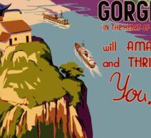 Vintage Yangtsze Gorges China Travel Poster Sticker
