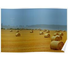 """"""" Drying Hay Bails """" Poster"""