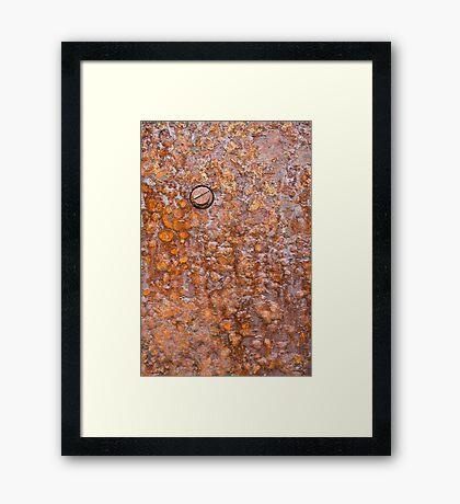 Rusty Boilerplate Framed Print