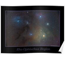 Rho Ophiuchus Region Poster